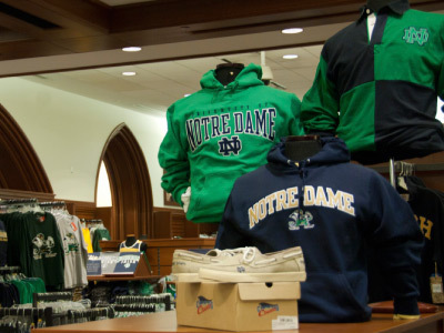Merchandise at Hammes Notre Dame Bookstore