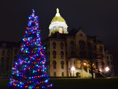 'Tis The Season At Notre Dame