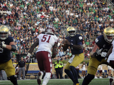 Irish Trounce Temple in Season Opener