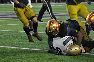 Irish Hold On Against Midshipmen