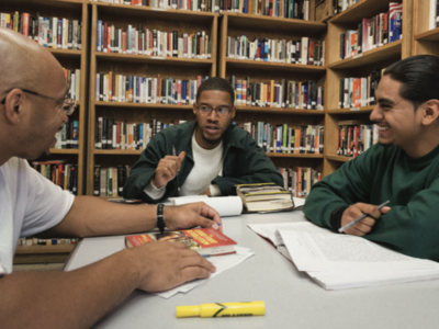 Students and Inmates Westville Correctional Partnership Offers Inmates Opportunity for Education