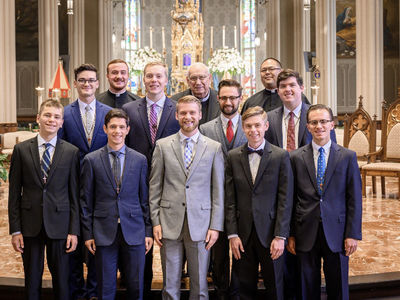 Checking in with Campus Seminarians: Q&A with Liam Johnson, Second Year in Old College